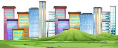 Une scène urbaine de ville illustration stock