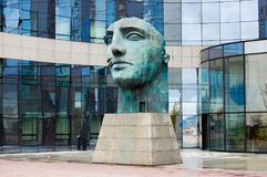 Une sculpture à la La Défense photo libre de droits