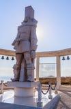 Une sculpture commémorative de l'amiral russe F f Ushakov Cap Kaliakra, Bulgarie Images libres de droits
