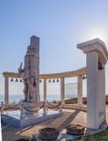 Une sculpture commémorative de l'amiral russe F f Ushakov Cap Kaliakra, Bulgarie Photographie stock libre de droits