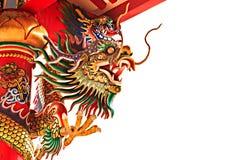 Une sculpture en dragon image stock