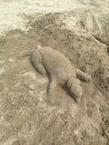 Une sculpture en sable photographie stock