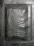 Une section de panneau de plan rapproché d'une porte très vieille Photographie stock libre de droits
