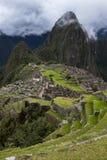 Une section des ruines chez Machu Picchu au Pérou Image stock