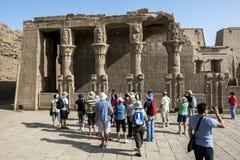 Une section du mammmisi (maison de naissance) de Horus au temple de Horus dans Edfu en Egypte Images libres de droits