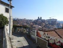 Une sensation trompeuse porto portugal photo stock