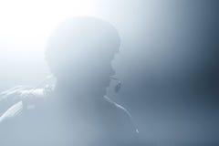 Une silhouette d'un soldat Photographie stock libre de droits