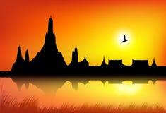 Une silhouette de temple Photographie stock libre de droits