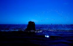 Une sirène émerge de la mer et du x28 ; 1& x29 ; Photographie stock libre de droits
