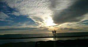 Une soirée nuageuse Images stock