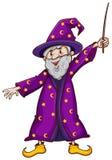 Une sorcière avec une baguette magique Images stock