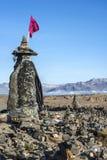 Une sorcière en pierre se tient prêt la route à la vallée de Colca, Pérou photo stock