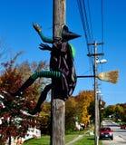Une sorcière, un balai, et un Polonais photo libre de droits