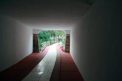 Une sortie de tunnel Photo libre de droits