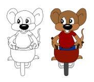 Une souris fonctionnante photo stock