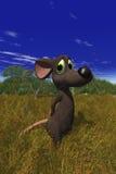 Une souris semblant timide dans le domaine Photo stock