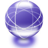 Une sphère en verre Photo stock