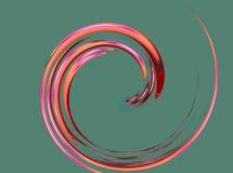 Une spirale fine et gentille illustration stock