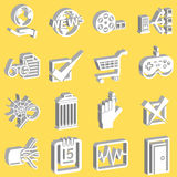 Une série de Web et de graphismes de calcul Images libres de droits