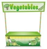 Une stalle végétale Photographie stock libre de droits