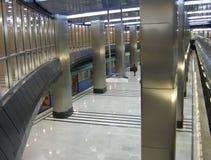 Une station de métro moderne Images stock