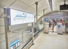 Une station de métro de souterrain d'Euskotren, Topo San Sebastian, Gipuzk image libre de droits