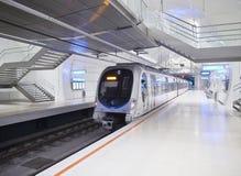 Une station de métro de souterrain d'Euskotren, Topo San Sebastian, Gipuzk images stock