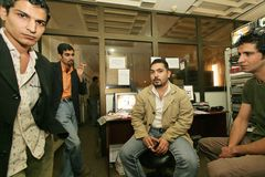 Une station de télévision irakienne indépendante, Cario Photos stock