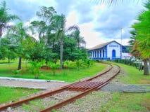 Une station de train dans la ville de Criciúma images stock