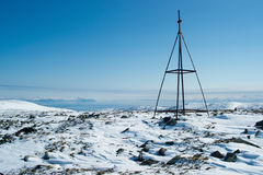 Une station de triangulation chez Kolyma Photo stock