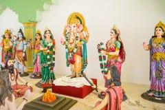Une statue d'un dieu d'hindouisme Images libres de droits