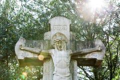 Statue grave avec frontlighting Photo libre de droits