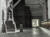 Une statue de Jozef Pilsudski a fait à partir du sel gemme dans le Wieliczka Photo libre de droits