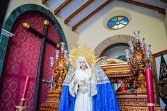 Une statue de Vierge Marie Photo stock