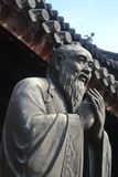 Une statue du Confucius légendaire à Changhaï, Chine photo stock