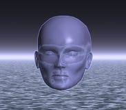 Une tête étrangère mystérieuse Images libres de droits
