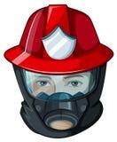 Une tête d'un pompier illustration libre de droits