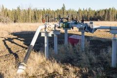 Une tête de puits de gaz naturel photo libre de droits