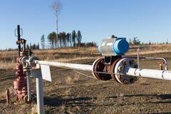 Une tête de puits de gaz naturel Photographie stock libre de droits