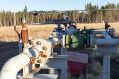 Une tête de puits de gaz naturel Photos libres de droits