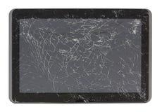 Une tablette cassée d'écran Il a été frappé par un homme lourd Photos stock
