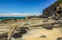 Une tache surfante préférée sur la Côte Pacifique australienne dans Apoll photo libre de droits