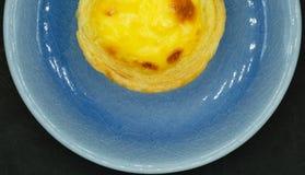 Une tarte d'oeufs Photos libres de droits