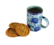 Une tasse avec un dessert doux D'isolement Photo stock