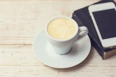 Une tasse d'expresso de café Photographie stock