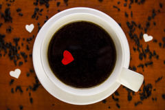 Une tasse de café Photos stock