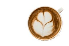 Une tasse de café chaud d'art de latte de tulipe photos stock