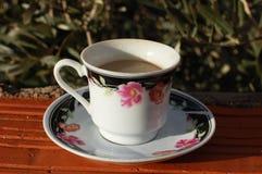 Une tasse de café intéressante Photo stock