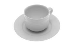 Une tasse de café vide Photographie stock libre de droits