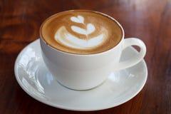 Une tasse de latte de café photo stock